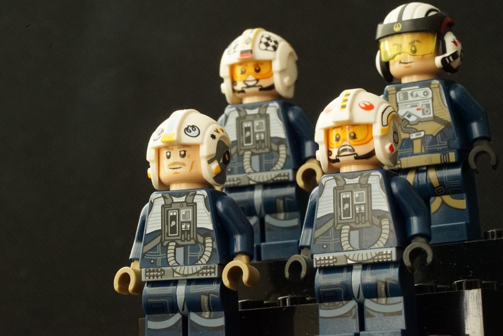 ブルー中隊に所属したパイロットたち(LEGOミニフィグまとめ